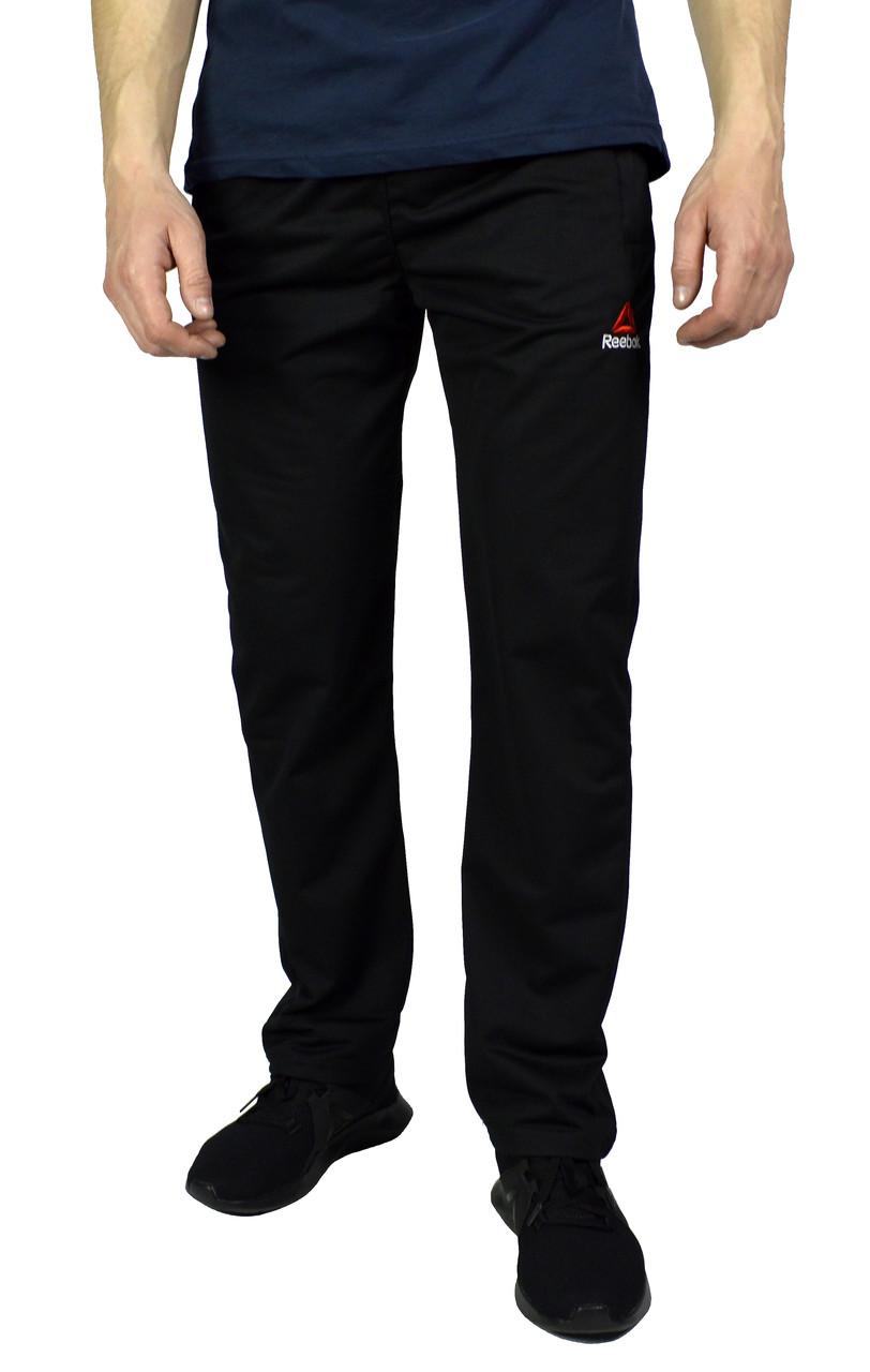 Черные мужские спортивные трикотажные штаны REEBOK