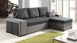 Угловой диван Леванте (с пуфами) Daniro