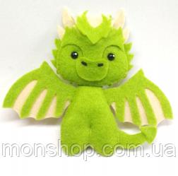 Игрушка из фетра Дракон Рейгаль (Rhaegal)