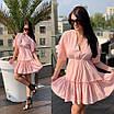 Летнее платье с юбкой от груди  и открытой спиной, фото 4