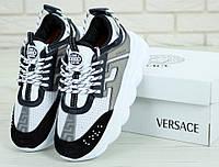 Versace Chain Reaction 2 Black | кроссовки женские и мужские; серые; Версаче