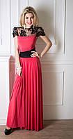 Вечернее платье с гипюром Anabel 42–44р. коралл