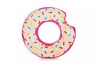 Надувной круг для плавания «Пончик», от 3 лет, 107х99 см