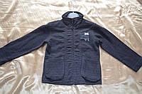 Кофта черная спортивная, на замке, с накладными карманами