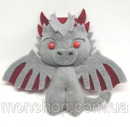 Игрушка из фетра Дракон Дрогон (Drogon)