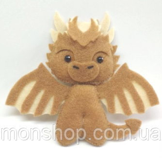 Іграшка з фетру Дракон Визерион (Viserion)