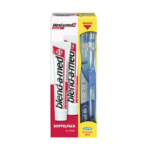Blend-a-med Complet plus extra fresh 75 ml Набор зубная паста  2 шт + зубная щетка
