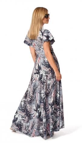"""Платье """"Эмма"""" размеры 44,46 цвет серый с розовым, фото 2"""