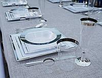 Тарелки глубокие одноразовые термостойкие для фуршета выездной банкет праздничный стол кейтеринг CFP 6шт300мл