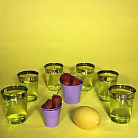 Стаканы праздничные одноразовые стеклопластик для фуршета выездного банкета праздничного стола CFP 6шт 220мл
