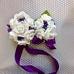 Свадебный набор бутоньерок в фиолетовом цвете