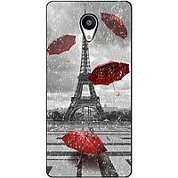 Чехол силиконовый бампер для Meizu M3s с рисунком Париж