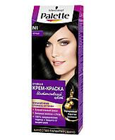 Краска для волос №1 чёрный, 115 мл, Palette