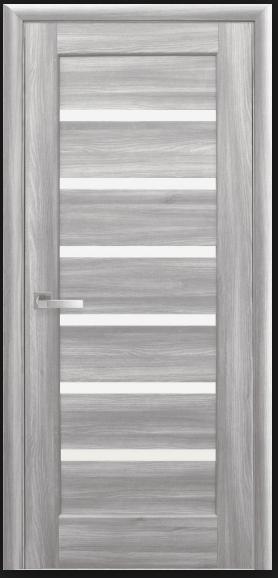 Дверное полотно Новый Стиль Линея бук пепельный  со стеклом сатин