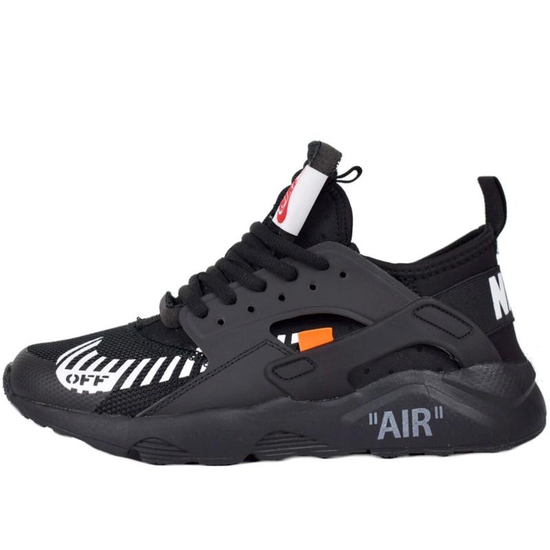 Кроссовки женские Nike Air Huarache x OFF White (черные) Top replic