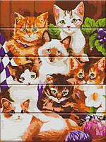 """Картина по номерам по дереву. """"Котята"""" ASW017"""
