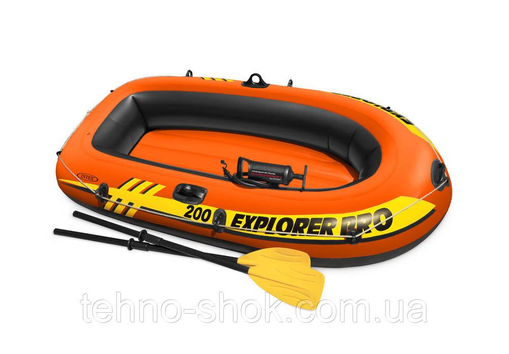 "Надувная лодка Intex ""Explorer Pro 200"" 58357 (196х102х33см)"
