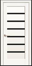 Дверное полотно Новый Стиль Линея   со черным стеклом, фото 2