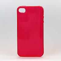 Чехол из высококачественного силикона для Iphone 4/4S ярко малиновый
