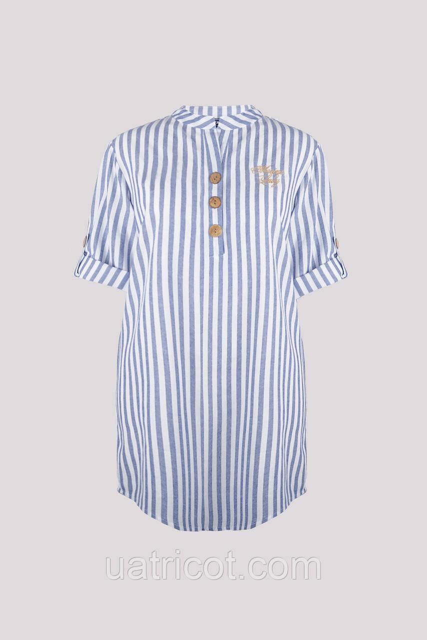 Рубашка женская KIFA БЖ-018/43 полоска синяя