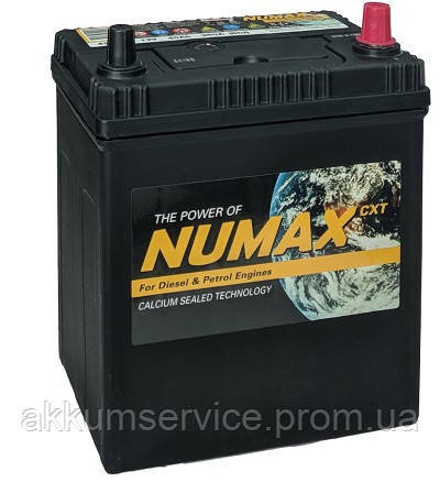 Аккумулятор автомобильный Numax Asia 40AH R+ 370A  (42B19L)