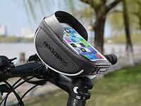 """Вело сумка на руль ROCKBROS 010-4BK КОЗЫРЕК 6"""" велосипед велосумка"""
