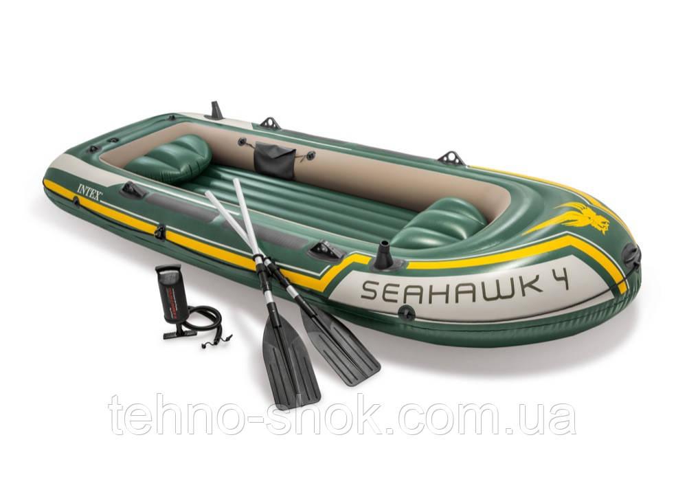 Лодка надувная Seahawk Intex 68351 (338х127см)