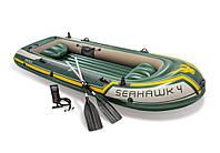 Лодка надувная Seahawk Intex 68351 (338х127см), фото 1