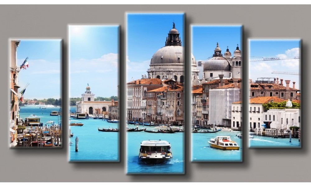 Модульная картина Венеция-8 55х101 см (HAB-121)