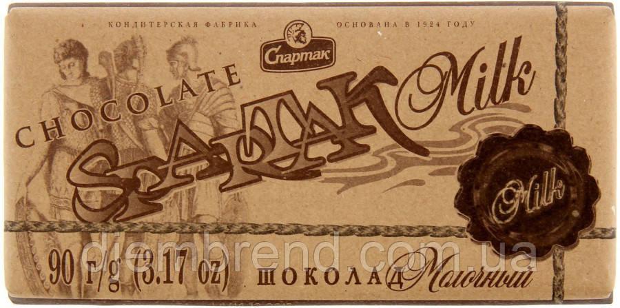 Шоколад молочный, Spartak, 90 г., Беларусь