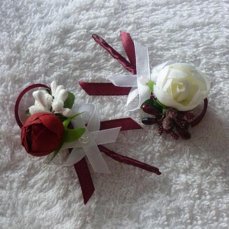 Бутоньерки свадебные в любом цвете с пионом