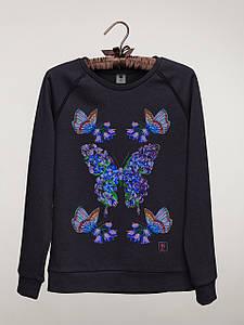 Женский светшот (свитшот) с принтом Бабочки