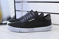 Кроссовки мужские весенние удобные спортивные на каждый день в черном цвете, ТОП-реплика