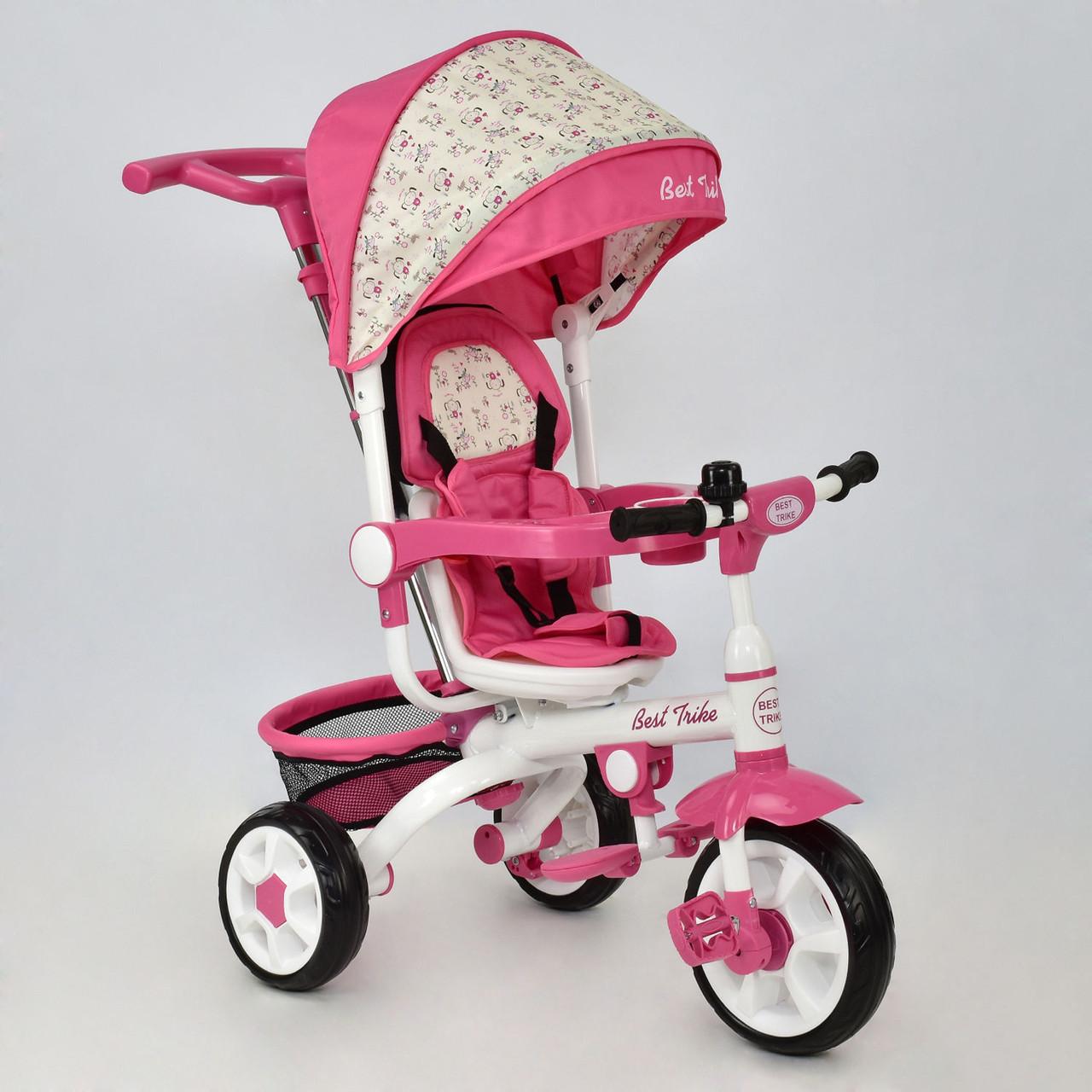 Детский трехколесный велосипед Best Trike DT 128 Розовый Гарантия качества Быстрая доставка