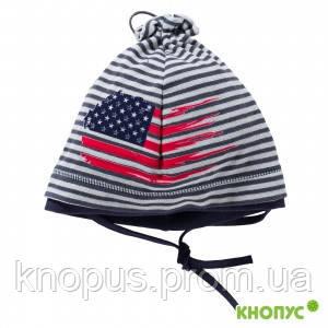 Трикотажная хлопковая демисезонная шапка для мальчика, Jamiks, Польша, 50 см