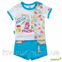 """Комплект для мальчика """"Отдых"""" футболка и шорты, Smil, размер 68"""