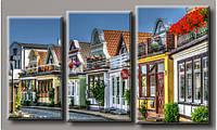 Модульная картина Городок в Германии 55х94.5 см (HAT-182)