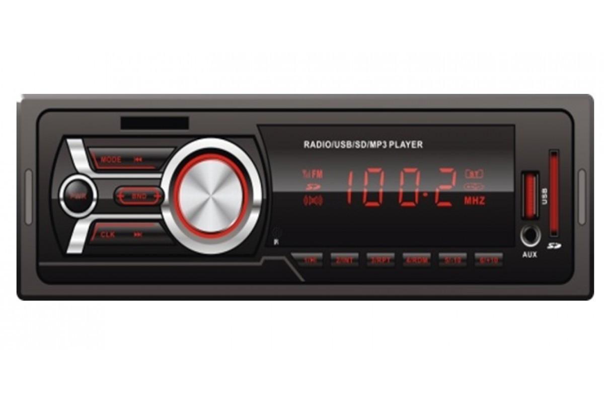Автомагнитола с еврофишкой универсальная 1DIN MP3-606 Автомобильная ISO SD Cards USB