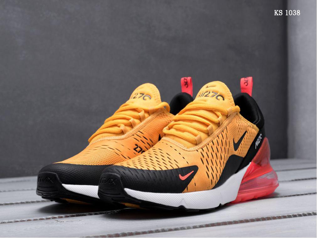 Мужские кроссовки Nike Air Max 270 (оранжевые)