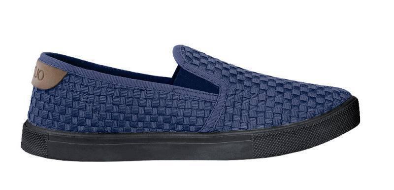 Слипоны текстиль OLDCOM лето ORIGINAL CROSS темно-синие, фото 2