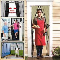 Москитная штора сетка на дверь на магнитах мagnetic mesh (Междик Меш) 100*210 см
