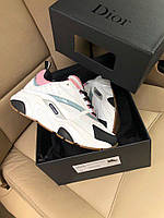 Кроссовки Dior Homme B22 Trainer Sneakers White with pink Белые с розовым, фото 1