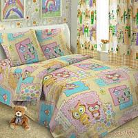 Комплект постельного белья  в кроватку Совушки, фото 1