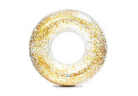 """Надувной круг для плавания  INTEX """"Блеск""""  золотой, 119 см"""