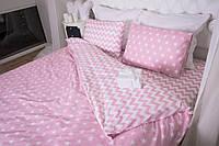 Комплект постельного белья Звезды + зигзаг на розовом, ранфорс Lux, разные размеры