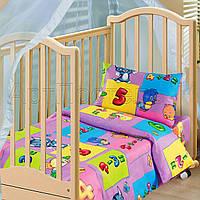 Комплект постельного белья в кроватку Забавный счет, фото 1