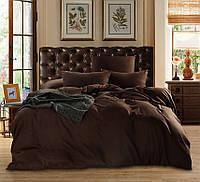 Комплект постельного белья  Горький шоколад, поплинLux, разные размеры