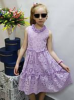 Стильное платье  для девочки  805 лето , размеры на рост от 122 до 140 возраст от 6  до 10 лет