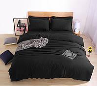 Комплект  постельного белья Черный  поплин Lux, разные размеры