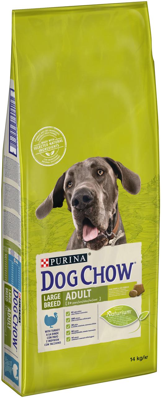 Dog Chow Adult Large Breed Turkey – сухий корм Дог Чау корм для дорослих собак великих порід з індичкою 14 кг